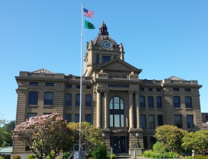 Grays Harbor county court house in Montesano. Photo by Guy Bergstrom.
